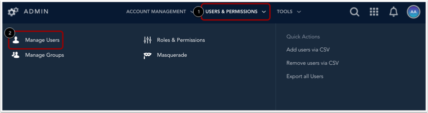 Open Manage Users