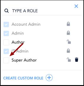 Assign Custom Role