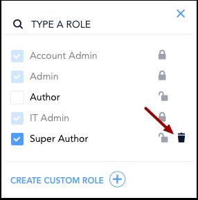 Delete Custom Role