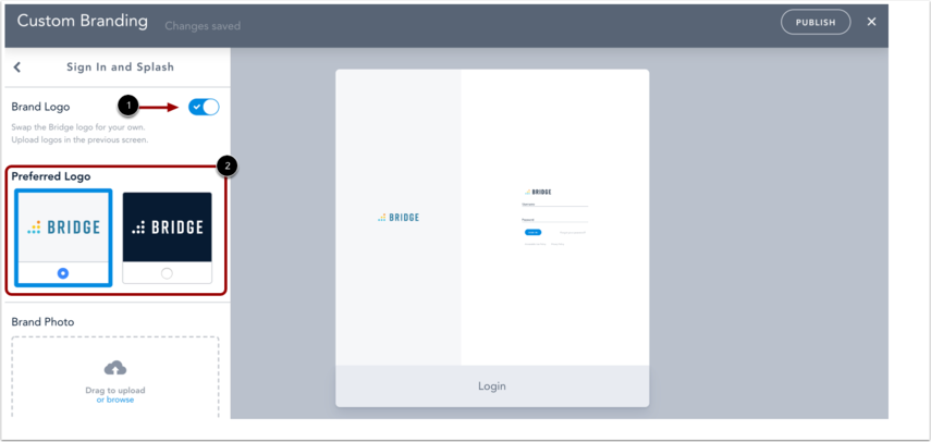 Customize Sign In and Splash Page