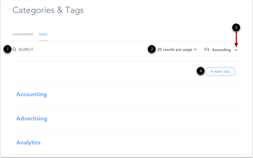 View Tags