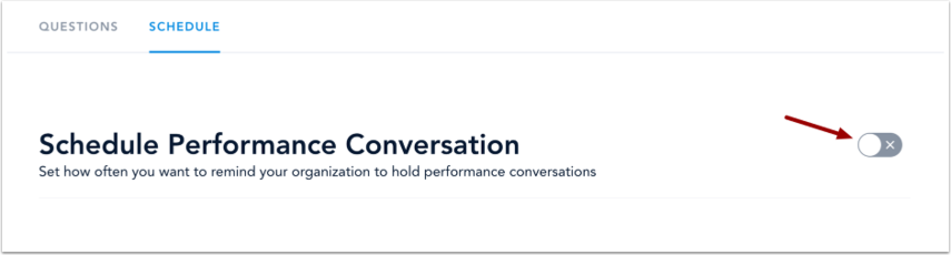 View Performance Conversation Schedule