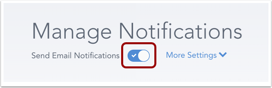 Enable Email Notifications