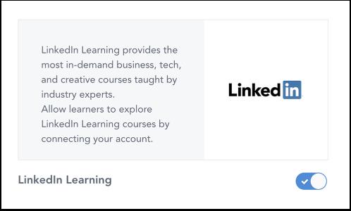 Manage LinkedIn Learning