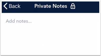 View Private Notes