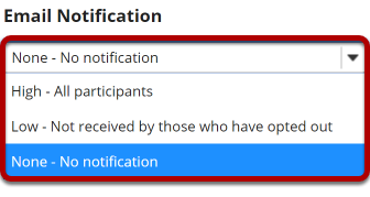 Image of email notification options