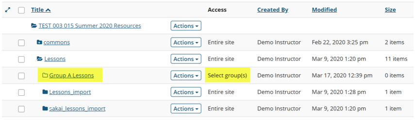 Image of group folders in resources.