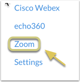Click the Zoom link from within your Canvas course
