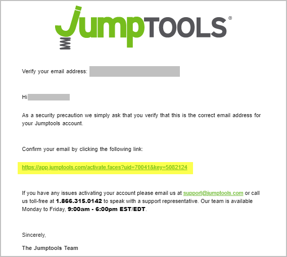 Confirm your email - pamela@jumptools.com - Jumptools Inc. Mail - Google Chrome