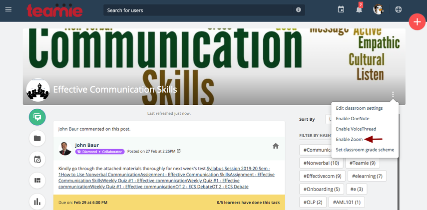 (7) Newsfeed | Effective Communication Skills | Teamie Next