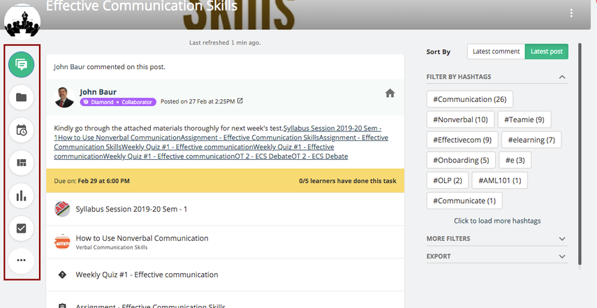 Newsfeed   Effective Communication Skills   Teamie Next