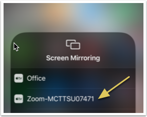 Select the Zoom meeting option to connect to the meeting.