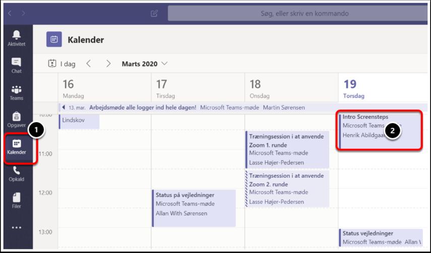 Kalender | Microsoft Teams