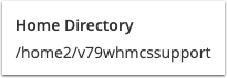 cPanel Home Directory