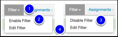 Filter Option 2: Filter Tab