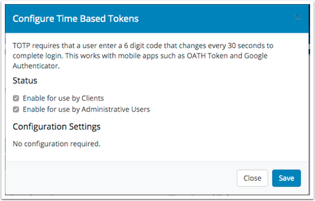 Enable for Clients or Admins