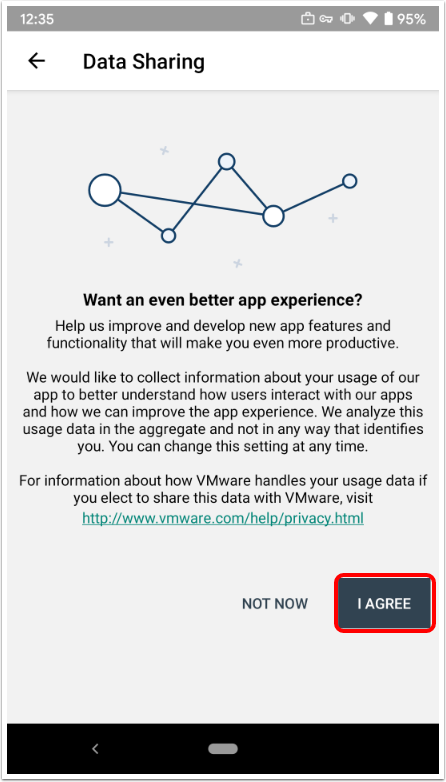 Agree to the Data Sharing Prompt