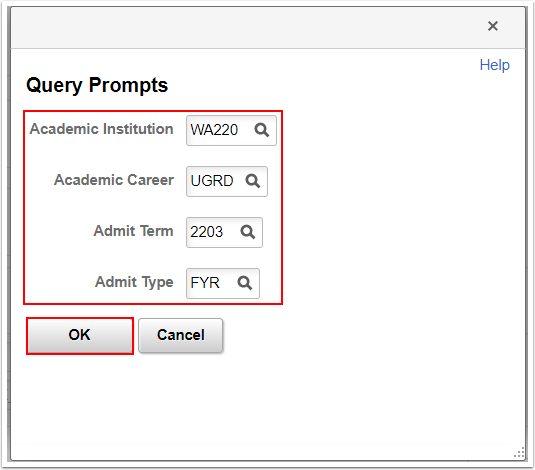 Entering Query Prompts