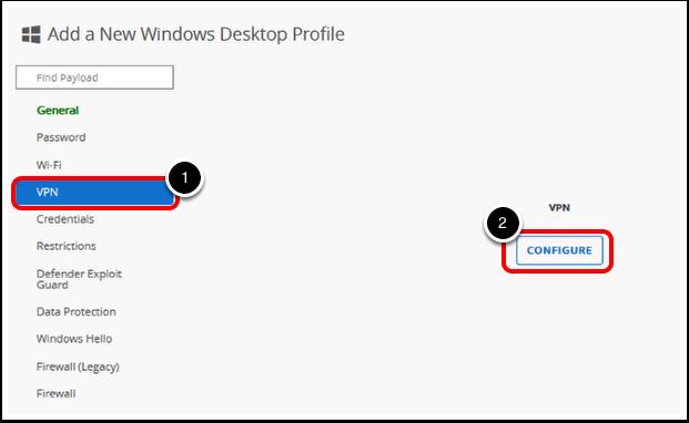 Add a VPN Payload