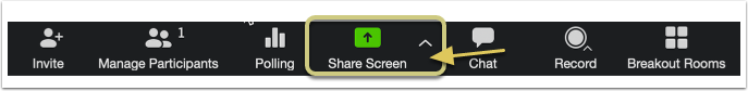 Enter a Zoom meeting and click the Share Screen Option