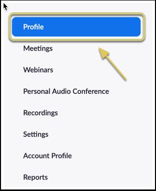 Navigate to 'Profile'