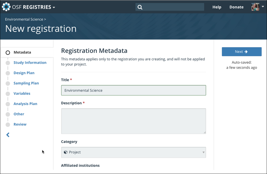 The Preregistration Form