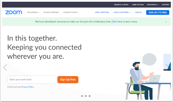 Video Conferencing, Web Conferencing, Webinars, Screen Sharing - Zoom - Google Chrome