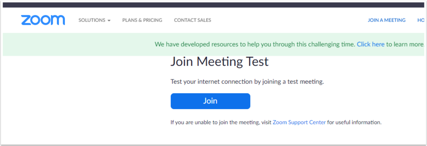 Join a Test Meeting - Zoom - Google Chrome