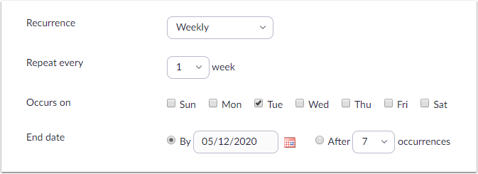 Schedule a Meeting - Zoom - Google Chrome
