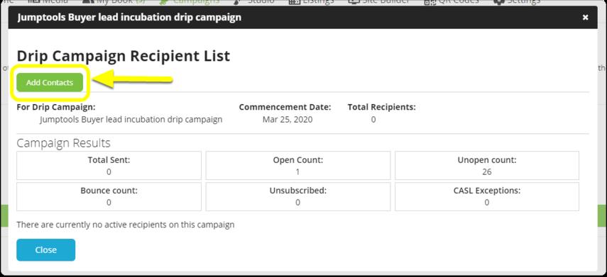 Campaigns Dashboard - Google Chrome