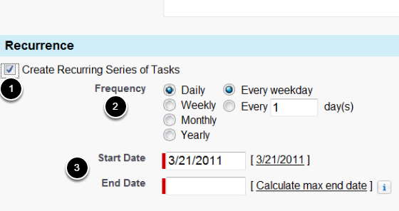To Create A Recurring Task