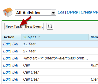 Create A Task From The Activities List View