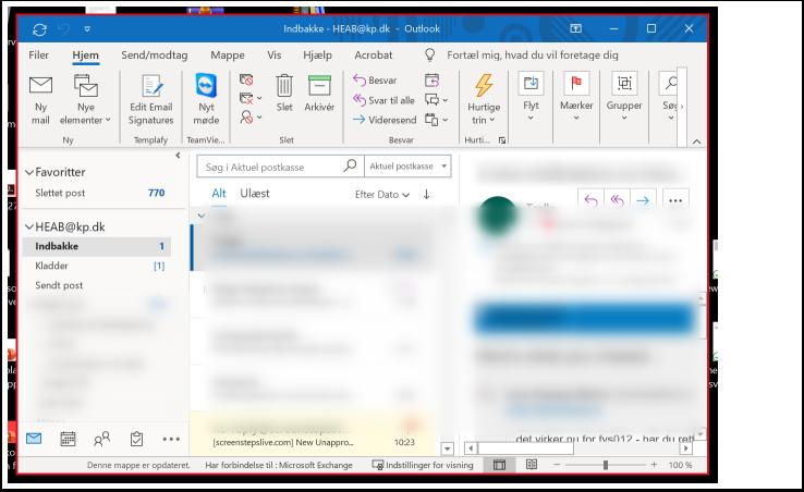 Microsoft Teams Opkald i gang Teams møde - del skærm