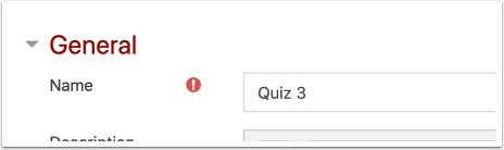 Quiz settings page detail