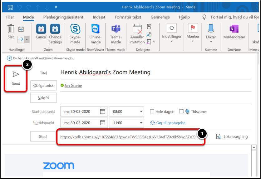 Henrik Abildgaard's Zoom Meeting - Møde