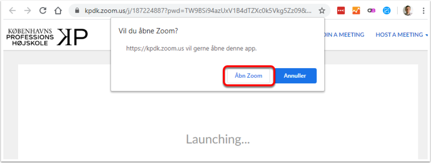 Launch Meeting - Zoom – Google Chrome
