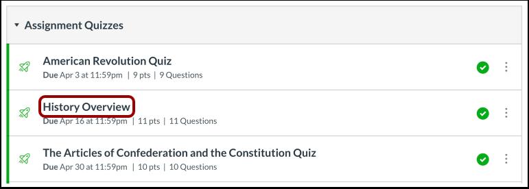 Öppna quiz