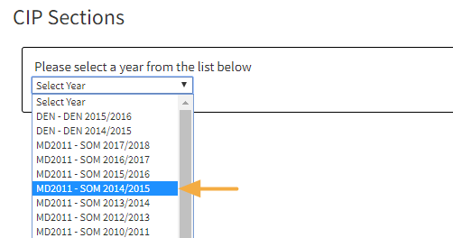Step 1: Select a Program Year