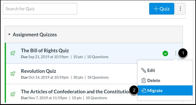 Migrate Quiz