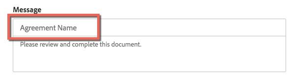 Box highlighting Agreement Name