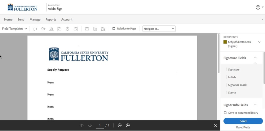Preview of document in Preview Screen