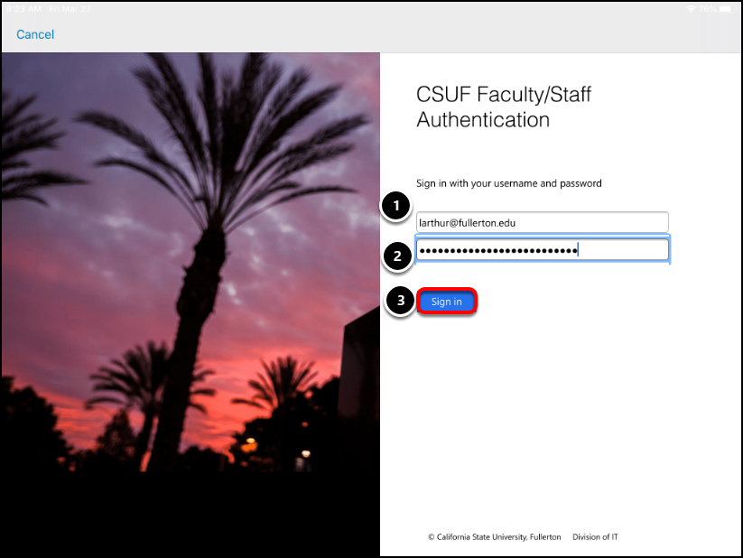 CSUF Faculty Staff Authentication