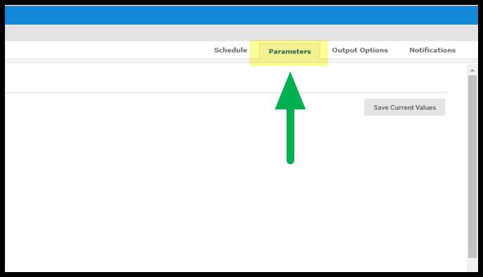Arrow pointing to Parameters tab