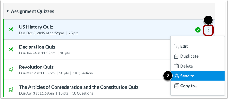 Open New Quiz Options