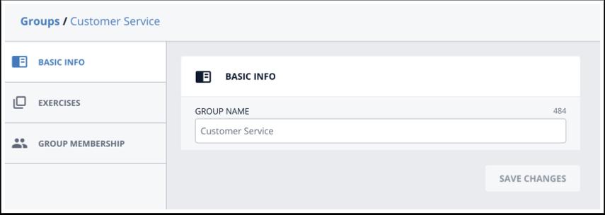 Edit Group name
