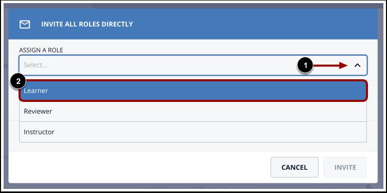 Click Learner option