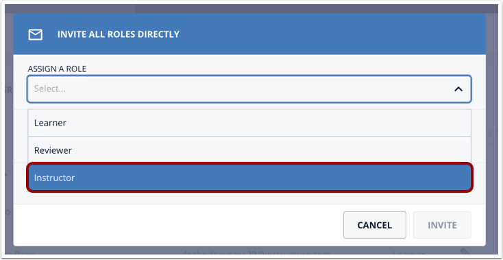 Click the Instructor option