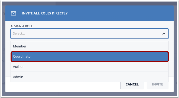 Click Coordinator option