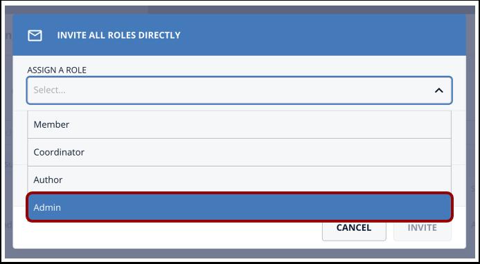 Click Administrator option