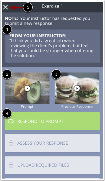 Image of New Response Submission page in mobile app